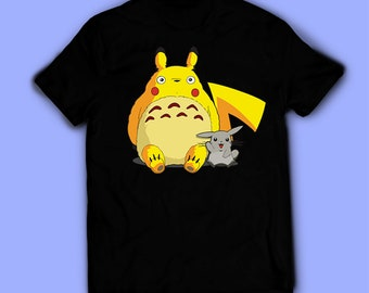 f500a3ce Pikachu shirt, Totoro t-shirt, Pokemon tee. Shirt for men women, and kids /  unisex. Birthday gift high quality. Father's gift, mother's gift