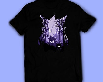 54cd2de9 Pokemon shirt, Gengar t-shirt, tee. Shirt for men, women, and kids / unisex.  Birthday gift high quality. Father's gift, mother's gift