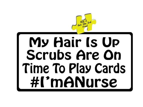RN Super Nurse Support Our Nurses Decal Sticker #471