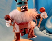 Hopi Rattle quot Cat quot Dancer Kachina Doll Signed 5 quot Hand Carved Painted Original Signed D. Frank