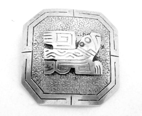 Button Concho Sterling Silver Peruvian Button 0.7… - image 1