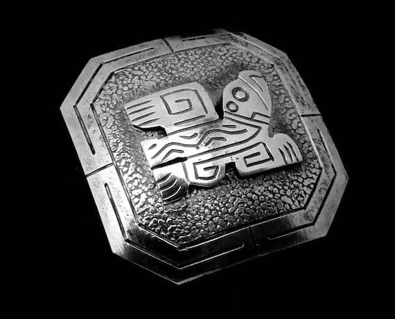 Button Concho Sterling Silver Peruvian Button 0.7… - image 2