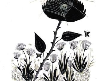 spiderweb original illustration