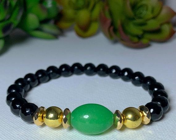 Jade black Onyx Bracelet