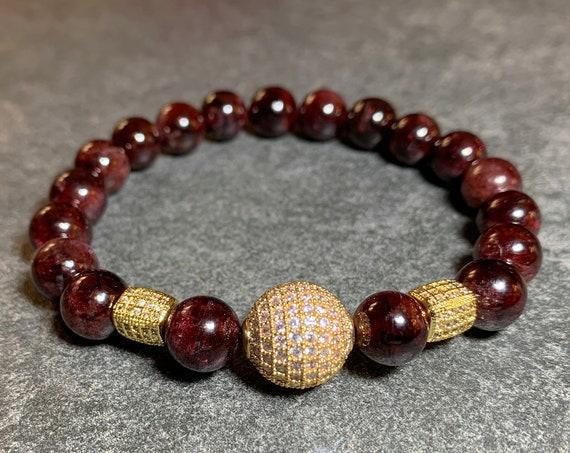 Garnet healing bracelet