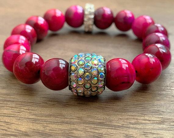 Pink Tigereye Bracelet