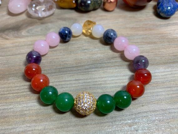 Chakra healing crystal bracelet