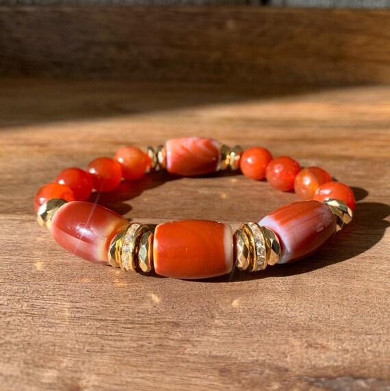 24K Gold Filled Agate Bracelet