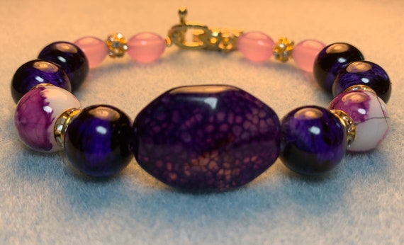 Royal Purple Elegance Statement Bracelet