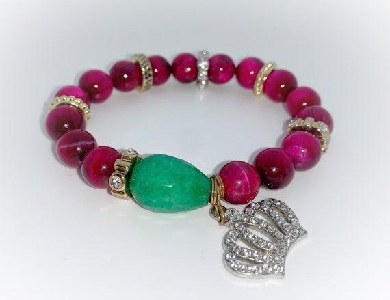 Jade and Tigereye Bracelet