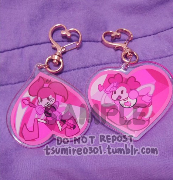 Double side Spinel Acrylic Keychains