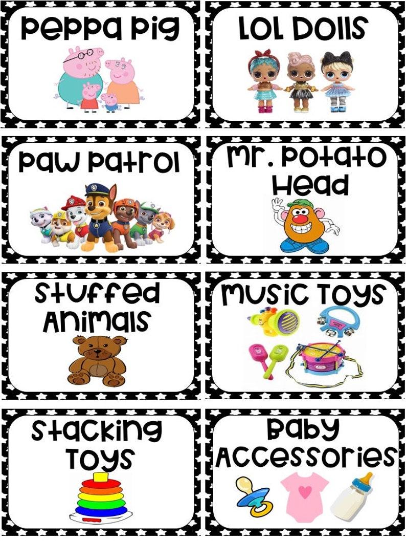 Toy Bin Storage Labels Printable