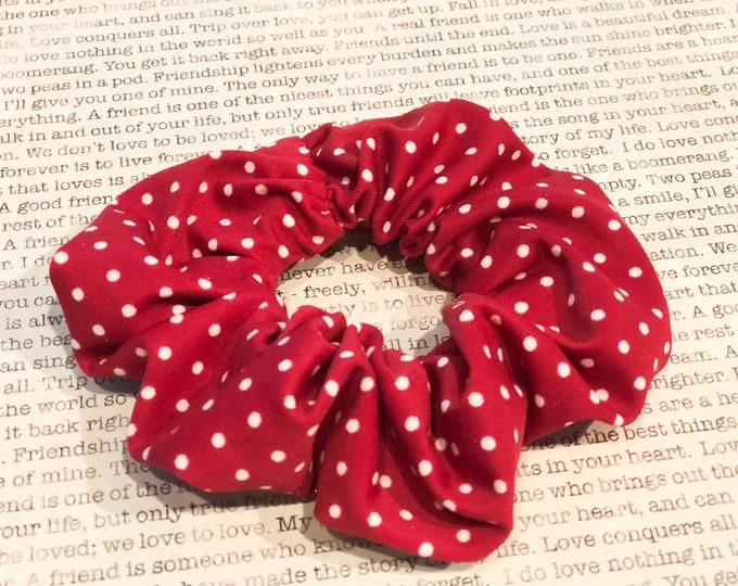 Featured listing image: Red Polka Dot Scrunchie
