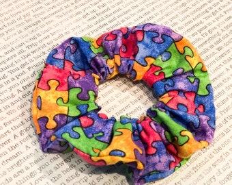 Perfect Puzzle Cotton Scrunchie