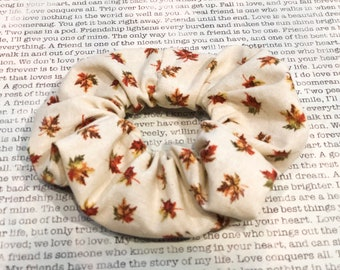 Leaves are FALLing Cotton Scrunchie