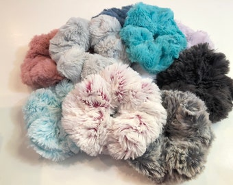 Ultra Soft Minky Scrunchies | Soft Scrunchie | Gift for Girls | 10 colors to choose from