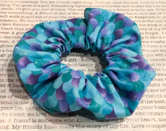 Glitter Mermaid Cotton Scrunchie