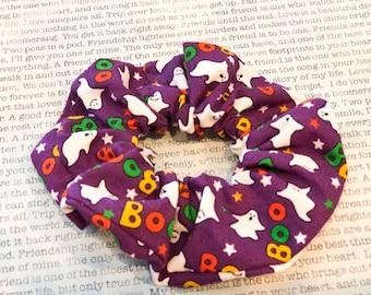 Boo Halloween Cotton Scrunchie