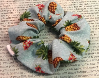 Sweet Pinapples Cotton Scrunchie   Pineapple scrunchies   Pinapple fruit scrunchie   Gifts for Girls   Hair accessories