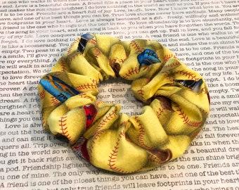 Softball Life Cotton Scrunchie