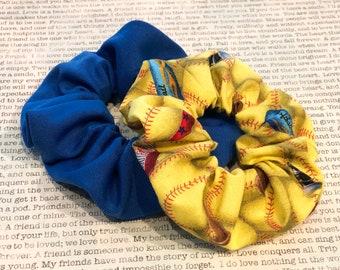 Softball Blue Scrunchie Set