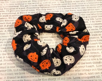 Pumpkin Fun Cotton Scrunchie