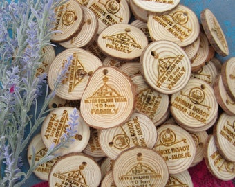 Personalized  wOOden handmade medals, dance, sports, own logo, eco friendly