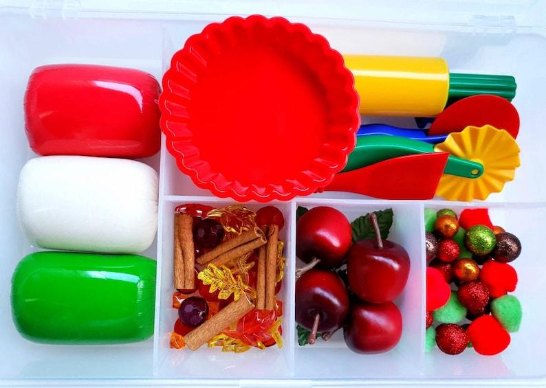 Apple Pie Sensory Kit Playdough Sensory Kit Fall Play Dough image 0