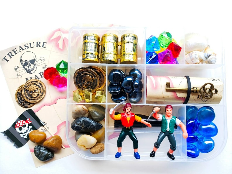Pirate Loose Parts Sensory Kit Sensory Bin Tinker Tray