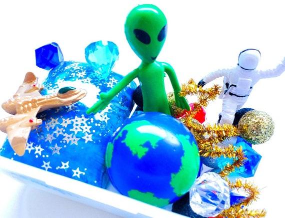 Space Playdough Kit Playdough Sensory Kit Sensory Box Busy