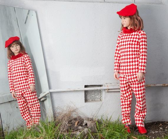 Vintage 1940's- 1950's kids jester costume