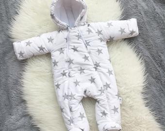 346240716 Newborn Winter Overall Baby winter jumpsuit Snowsuit for newborn Winter baby  clothes Hooded jumpsuit infants Warm baby onesie Baby shower