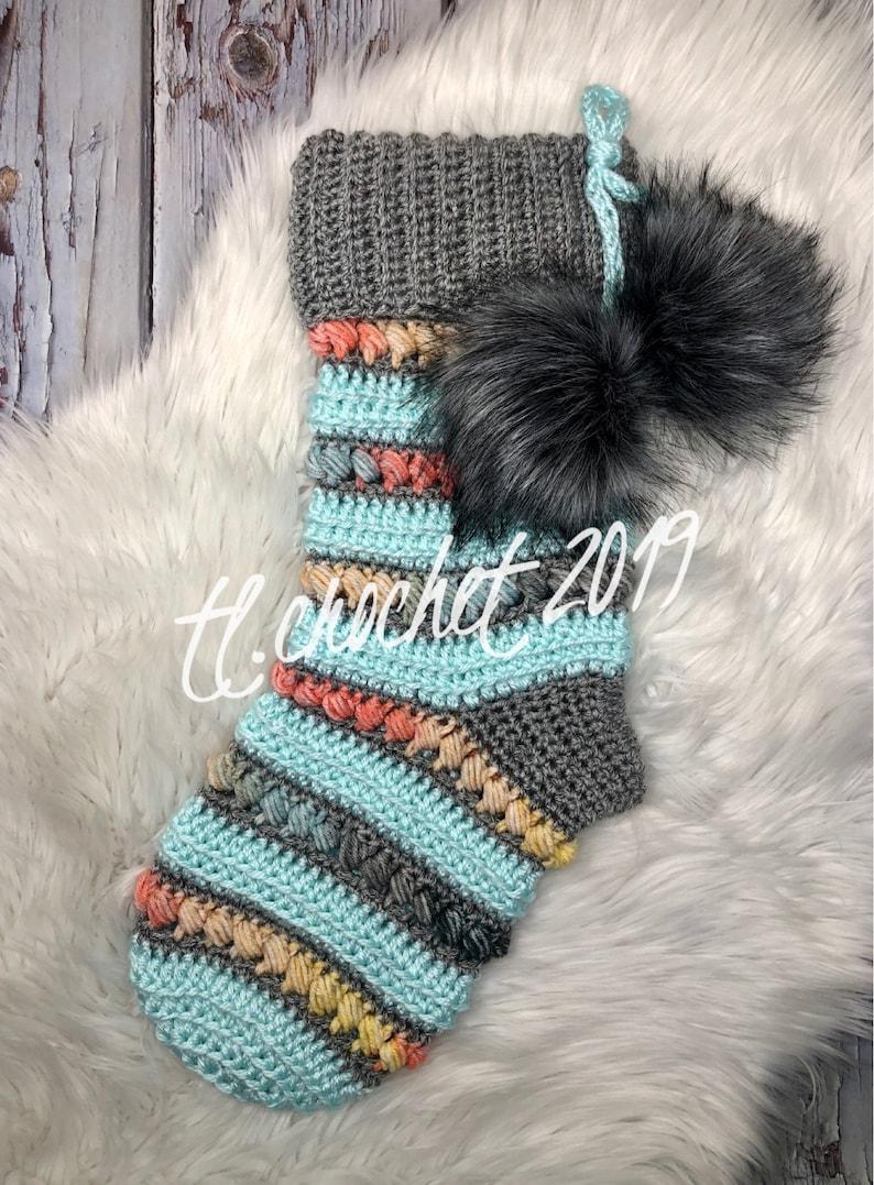 ThunderSnow Stocking PDF Crochet Pattern Crochet Stocking image 0