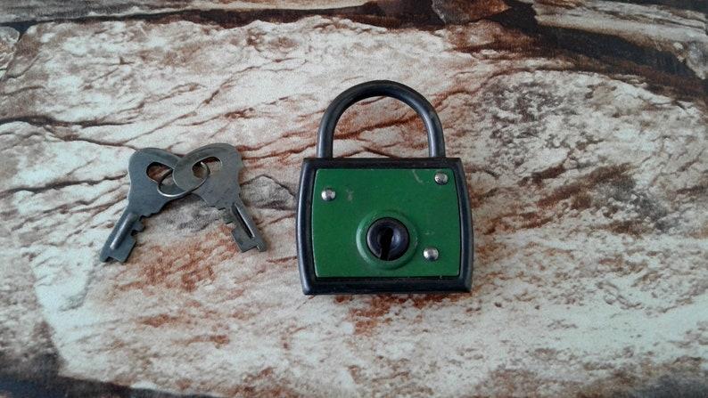 FREE POSTAGE Security German padlock Metal Padlock Working Padlock Vintage  padlock with 2 Keys Antique padlock