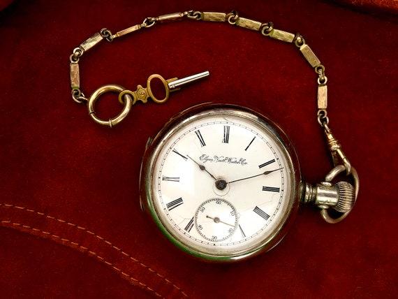 1880s Rare Elgin Open Face pocket watch, Antique E