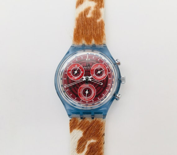 1990s Swatch Fury SCN109  with Box and Papers / V… - image 6