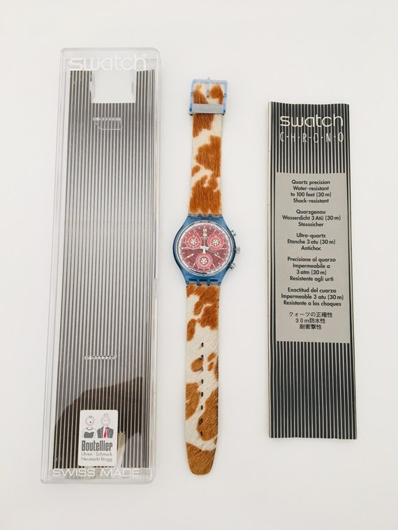 1990s Swatch Fury SCN109  with Box and Papers / V… - image 3