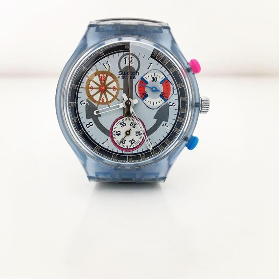 1990s Swatch SCN110 / Vintage Swatch / Chronograph