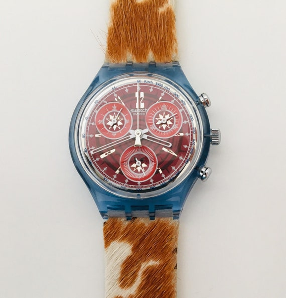 1990s Swatch Fury SCN109  with Box and Papers / V… - image 10