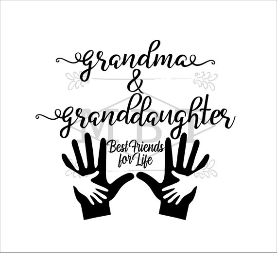 INSTANT DOWNLOAD svg grandma and granddaughter gigi nana | Etsy