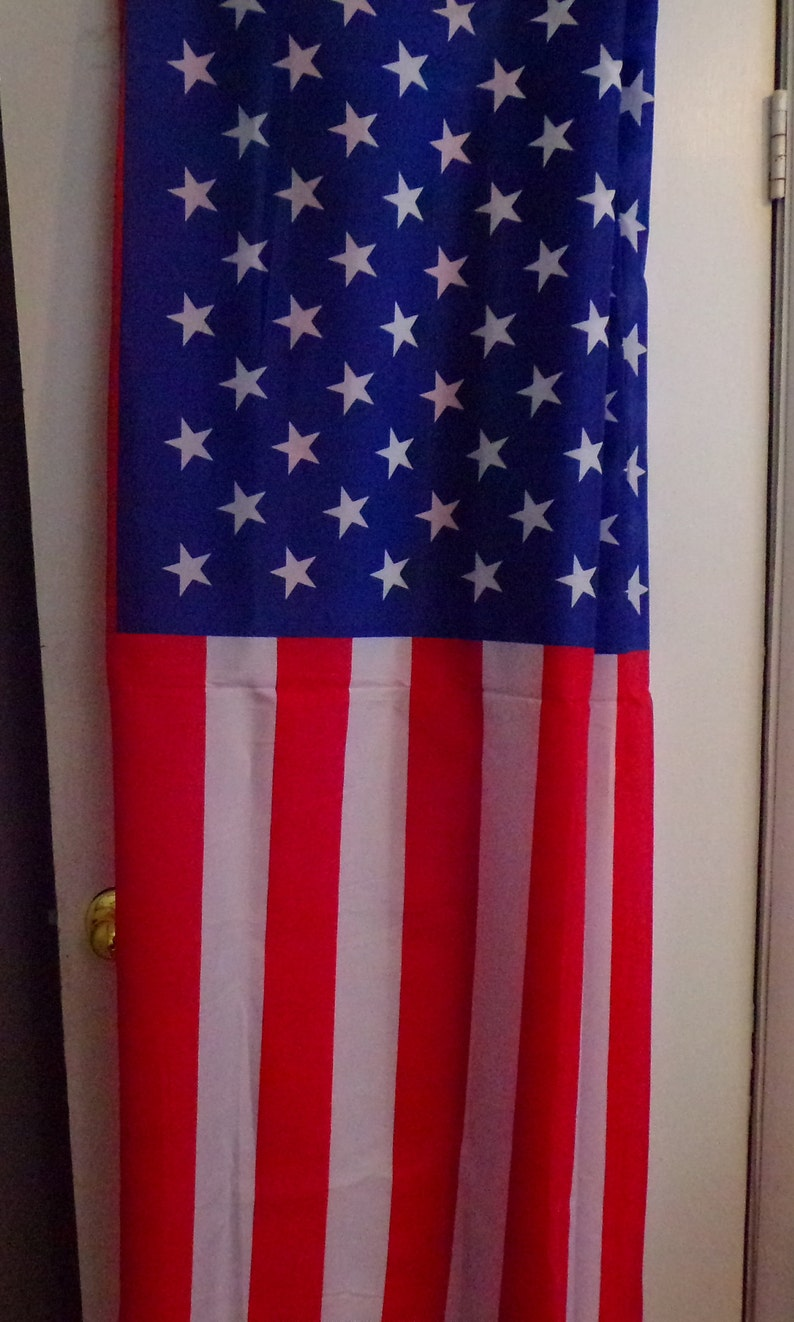 4 flags in all perfect for celebrations American Flag fabric 64 long each flag 21.5 wide