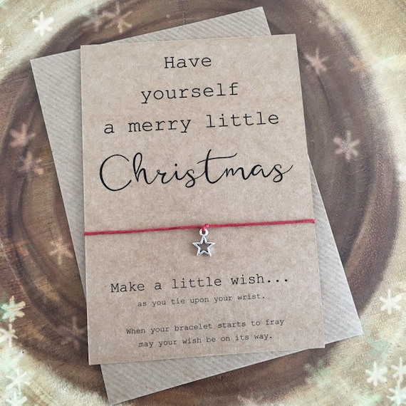 Christmas present Christmas Christmas Wish Bracelet Holiday Gift Have youeself a merry little christmas wish bracelet Christmas Gift