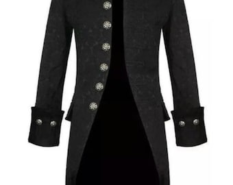 mens pagangothic clothing trench coat