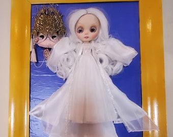 ROSE QUARTZ DOLL - Rare! Neo Blythe Doll - Custom Tbl Doll - Blythe Ooak Doll - Oddities weird gift