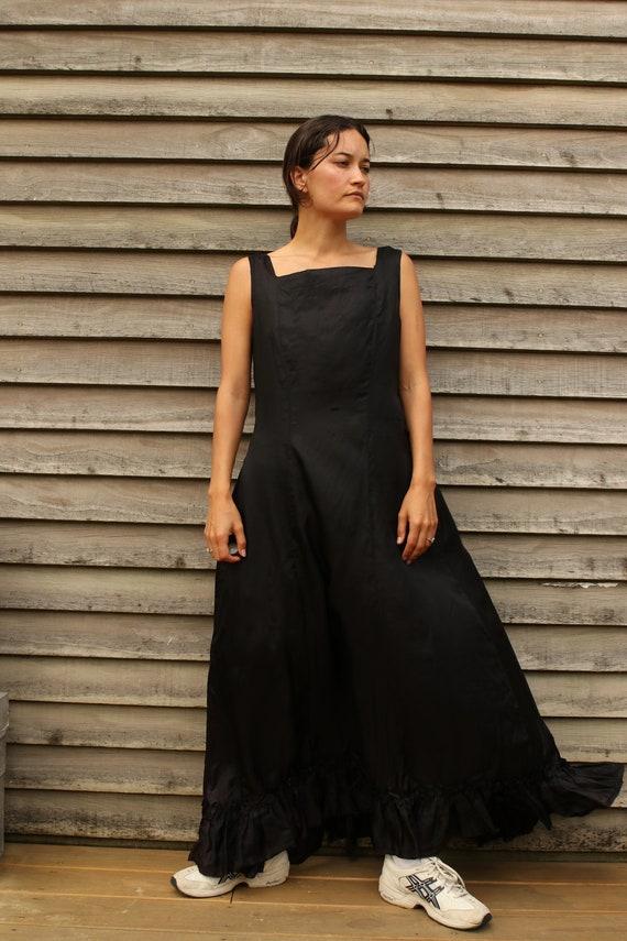 30s Silk Ruffle Slip gown