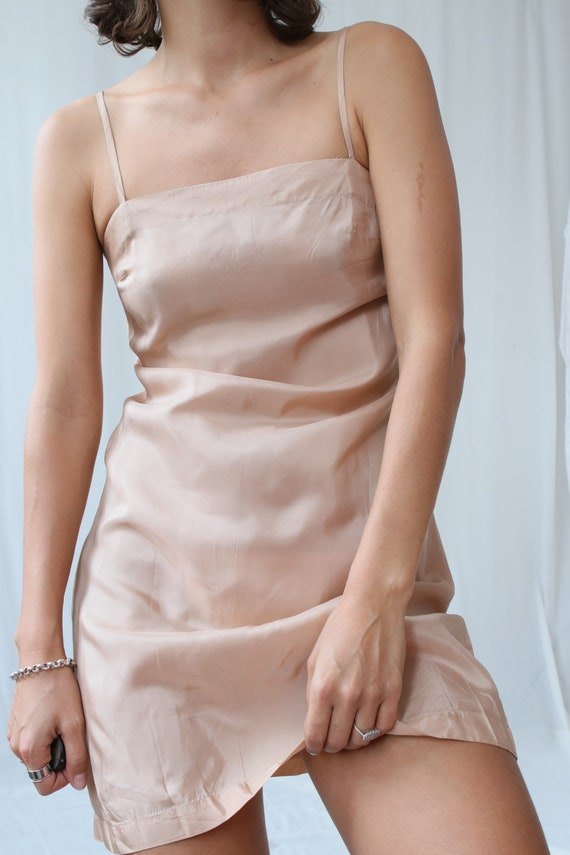 Precious True Vintage 1930s Peach Silk Slip Dress