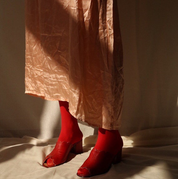 Previous True Vintage Cherry Red Mules 37