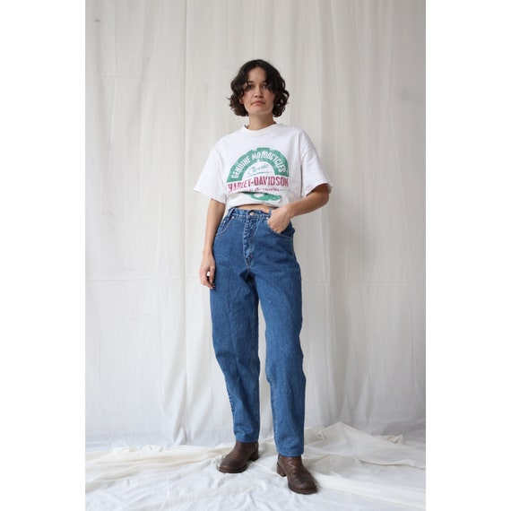 True vintage high waisted wide leg straight jeans