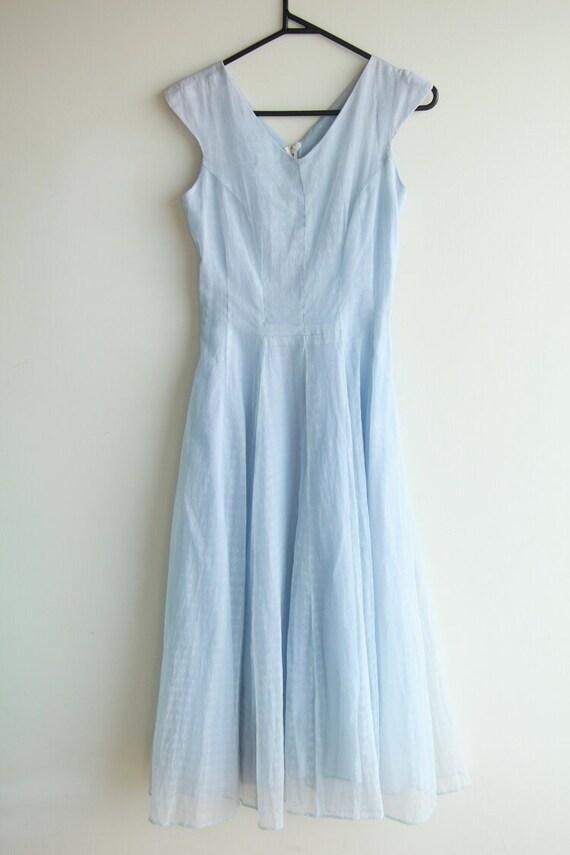 True Vintage Baby Blue Organza Dress