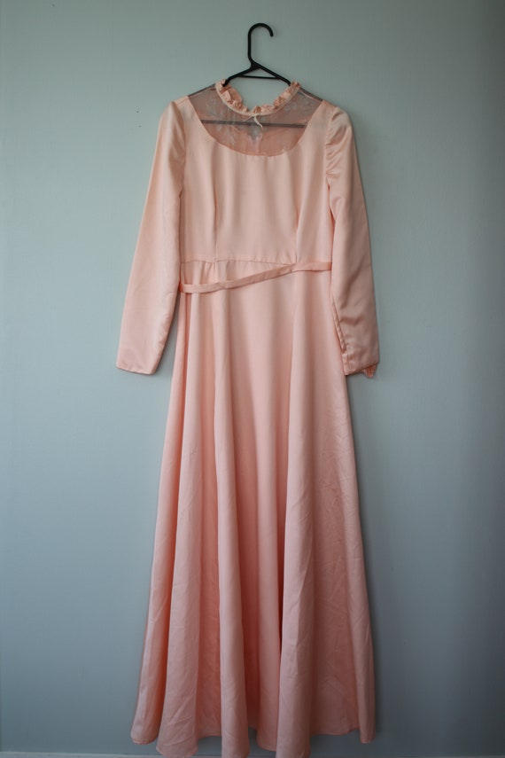 Baby Pink Puff Sleeve Gown True vintage
